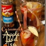Caramel Apple Iced Tea #BackToSchoolTreats
