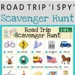 I Spy Road Trip Scavenger Hunt | Free Printable!