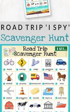 I Spy Road Trip Scavenger Hunt | Free Printable!