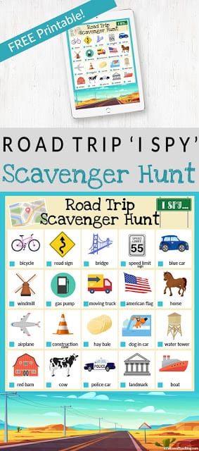 image relating to Road Trip Scavenger Hunt Printable named I Spy Highway Family vacation Scavenger Hunt Totally free Printable! - For the