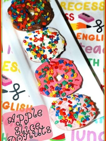Apple Slice Donuts #BackToSchoolTreats