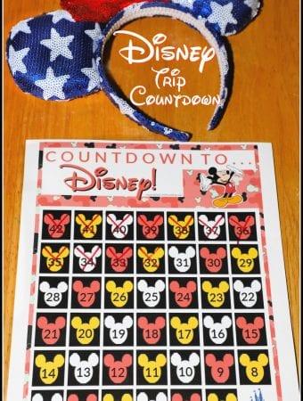 Disney Countdown Printable