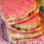 Pretty in Pink Party and Picnic | Pink Painted Sandwiches and Hot Pink Strawberries