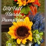 DIY Fall Floral Pumpkins