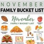 November Fall Family Bucket List
