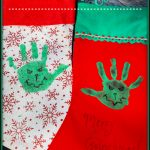 Grinch Handprint Christmas Stockings
