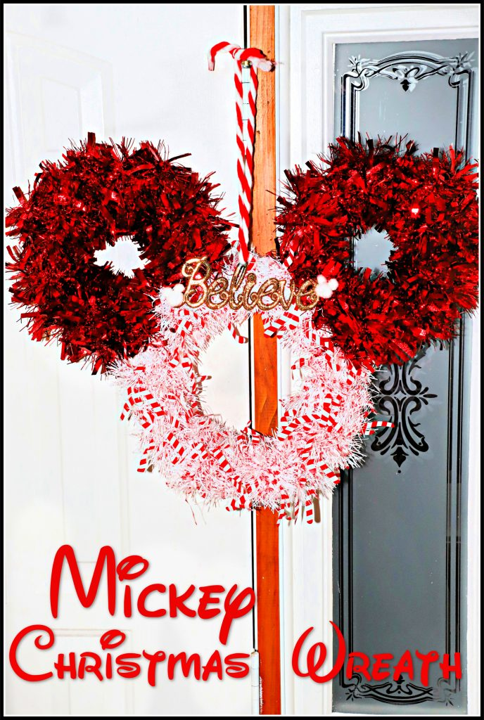 Diy Mickey Christmas Wreath Dollar Tree Craft For The
