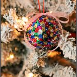 DIY Sequin Christmas Ornaments