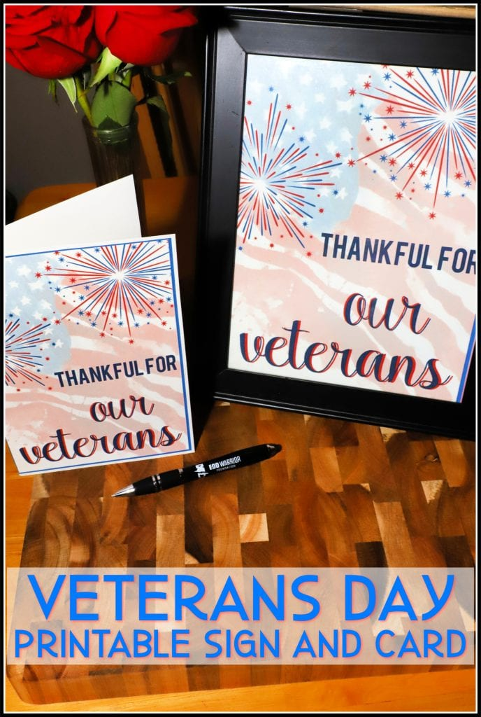 It is a picture of Printable Veterans Day Cards in military