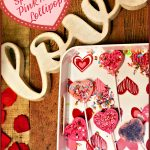 Valentine's Sprinkled Pink Heart Lollipops