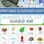 Neighborhood Nature Walk Scavenger Hunt | Printable Kids Activity