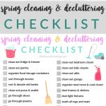 Spring Cleaning and Decluttering Printable Checklist
