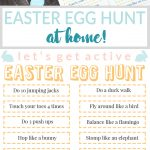 Kids Get Active Easter Egg Hunt | Free Printable Activity