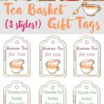 Tea Gift Baskets with Printable Tags