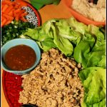 Copycat P.F. Chang's Chicken Lettuce Wraps with Fried Rice Noodles