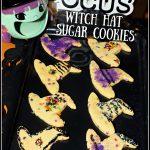 Hocus Pocus Witch Hat Sugar Cookies #HalloweenTreatsWeek