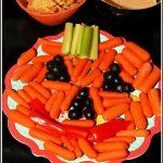 Halloween Pumpkin Veggie Snack Tray