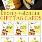 Bee Mine Printable Valentine Gift Tag Cards