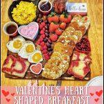 Valentines Heart Shaped Breakfast Charcuterie Board