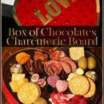 Box of Chocolates Charcuterie Board for Valentine's Day