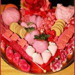 Valentine's Pink Dessert Charcuterie Board for Kids