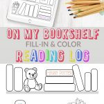On My Bookshelf Reading Log | Free Printable and Color Sheet