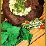 Sour Cream and Green Onion Dip in Pumpernickel Bread