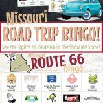 Missouri Route 66 Road Trip Bingo Game  | Free Printable