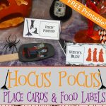 Hocus Pocus Party Place Cards and Food Labels | Free Printable